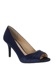 Nina Vesta Open Toe Pumps Blue