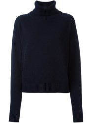 Faith Connexion Turtle Neck Jumper Blue
