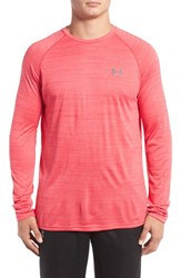 Under Armour Men's 'Ua Tech Tm ' Loose Fit Long Sleeve T Shirt Peacock