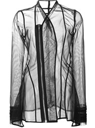 Rick Owens Lilies 'Princess' Sheer Fitted Jacket Black