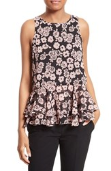 Milly Women's Floral Print Flare Tank