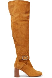 Chloe Suede Over The Knee Boots Tan