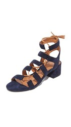 Frye Chrissy Side Ghillie City Sandals Navy