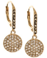 Judith Jack Gold Plated Sterling Silver Crystal Disc Drop Earrings