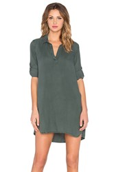 Bella Dahl A Line Shirt Dress Green