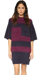 Paul Smith Boucle Dress Navy Plum
