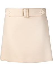Calvin Klein Collection Belted Mini Skirt Pink And Purple