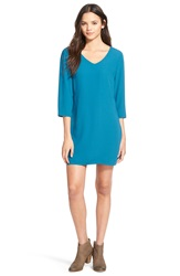 One Clothing Open Back Shift Dress Teal