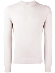 Malo Ribbed Crew Neck Jumper Nude Neutrals