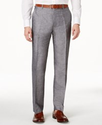 Inc International Concepts Neal Linen Slim Fit Pants Only At Macy's Light Grey