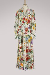 Gucci Flora Linen Dress Multi