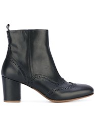 Buttero Mid Block Heel Ankle Boots Women Calf Leather Leather 38 Black