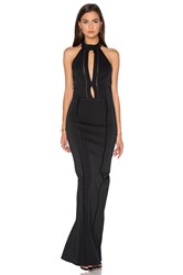 Nicholas Bandage Plunge Gown Dress Black