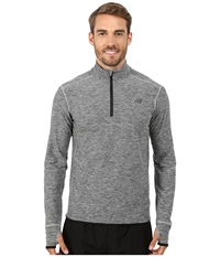 New Balance Space Dye Quarter Zip Athletic Grey Men's Long Sleeve Pullover Gray