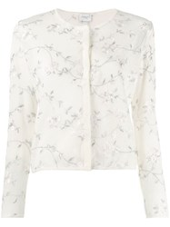 Giambattista Valli Floral Embroidered Cardigan White