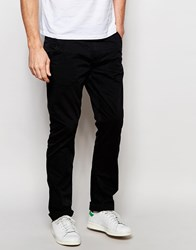 Blend Of America Blend Chinos Twister Slim Fit In Black Black