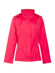 Cloud Nine Short Jacket With Packaway Hood Pink