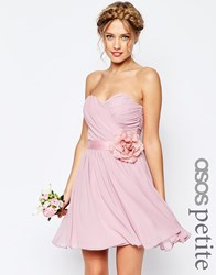 Asos Petite Wedding Chiffon Mini Dress With Corsage Nude