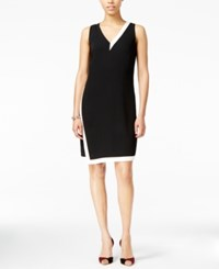 Armani Exchange Colorblocked Envelope Dress Black