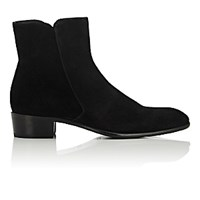 Doucal's Men's Side Zip Boots Black Blue Black Blue