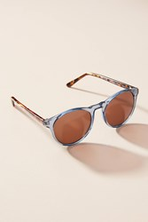 Anthropologie Cecie Sunglasses Blue Motif