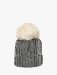 The North Face Oh Mega Faux Fur Pom Beanie One Size Tnf Grey Heat