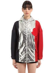 Moncler Gamme Rouge Faille And Poplin Lame Jacket