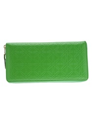 Comme Des Garcons Play Star Embossed Zip Wallet Green