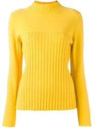 Cedric Charlier 'Runaway' Pullover Yellow Orange