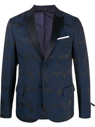 Daniele Alessandrini Single Breasted Fitted Blazer 60