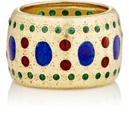 Mahnaz Collection Vintage Women's Enamel Dotted Band Colorless