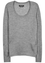 Isabel Marant Bowman Fine Knit Cashmere Blend Jumper Grey