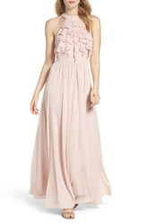 Vince Camuto Women's Ruffle High Neck Gown