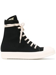 Rick Owens Drkshdw Hi Top Sneakers Black
