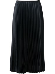 Cedric Charlier Cedric Charlier Pleated Midi Skirt Black