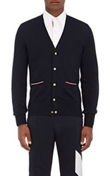 Moncler Gamme Bleu Men's Virgin Wool Cardigan Navy