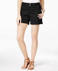 Inc International Concepts Petite Cuffed Twill Shorts Only At Macy's Deep Black