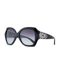 Bulgari Serpenti Oversized Butterfly Sunglasses Black