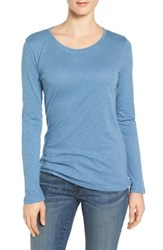 Caslonr Women's Caslon Long Sleeve Slub Knit Tee Blue Coronet