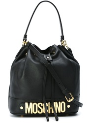 Moschino Logo Bucket Tote Black