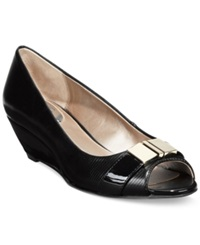 Alfani Women's Chorde Wedge Pumps Women's Shoes Black