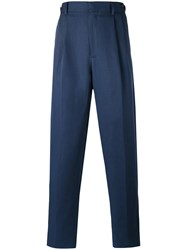 Umit Benan Pleated Trousers Blue