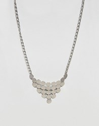 Ny Lon Nylon Geometric Necklace Silver