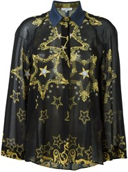 Versace Collection Loose Fit Star Shirt Black