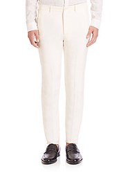 John Varvatos Slim Fit Straight Leg Hollywood Pants China White
