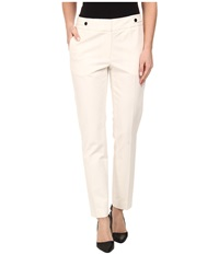 Adrianna Papell Kate Fit Pant W Side Tabs Ivory Women's Casual Pants White