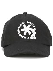 Off White Logo Print Cap Black