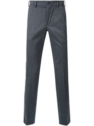 Loveless Embroidered Skull Tailored Trousers Grey