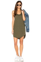 Chaser T Back Shirttail Mini Dress Olive