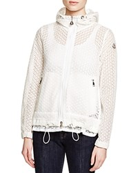 Moncler Rombou Eyelet Short Coat White